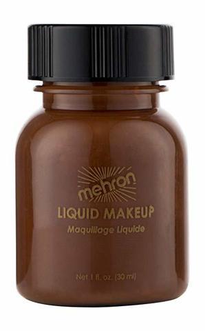 MEHRON Жидкий грим Liquid Makeup, Sable Brown (Коричневый), 30 мл