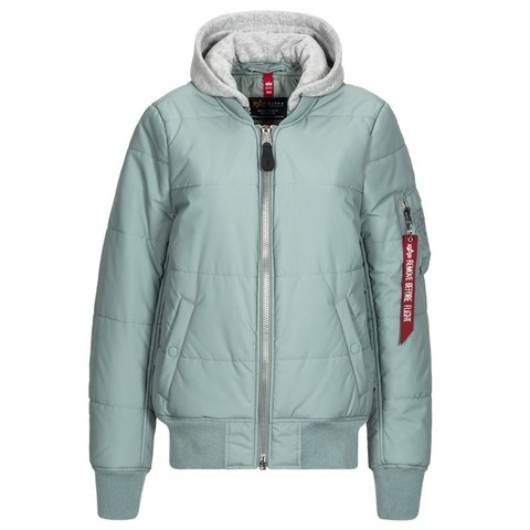 бомбер Alpha Industries MA-1 Natus Quilted Silver Blue