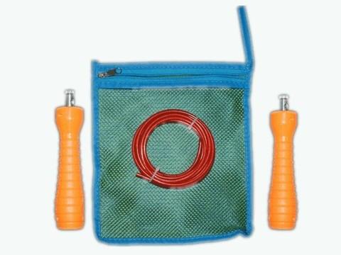 Скакалка с регулируемой длиной шнура. Упаковка - тканевая сумочка. :(WS-7):