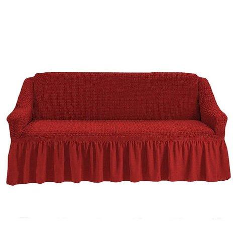 Чехол на трехместный диван, терракотовый