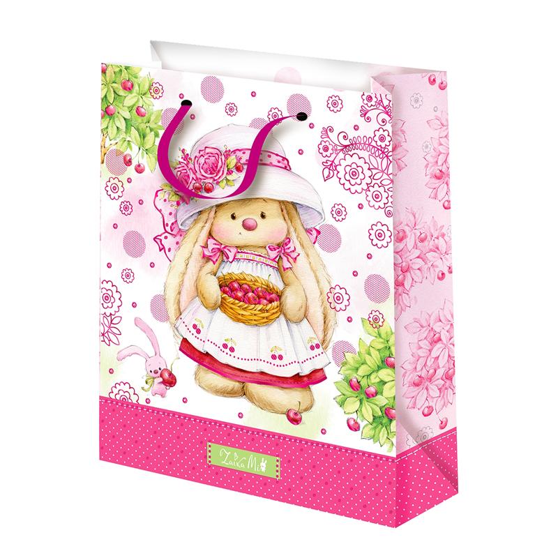 Подарочный пакет Зайка Ми с вишенкой (средний)