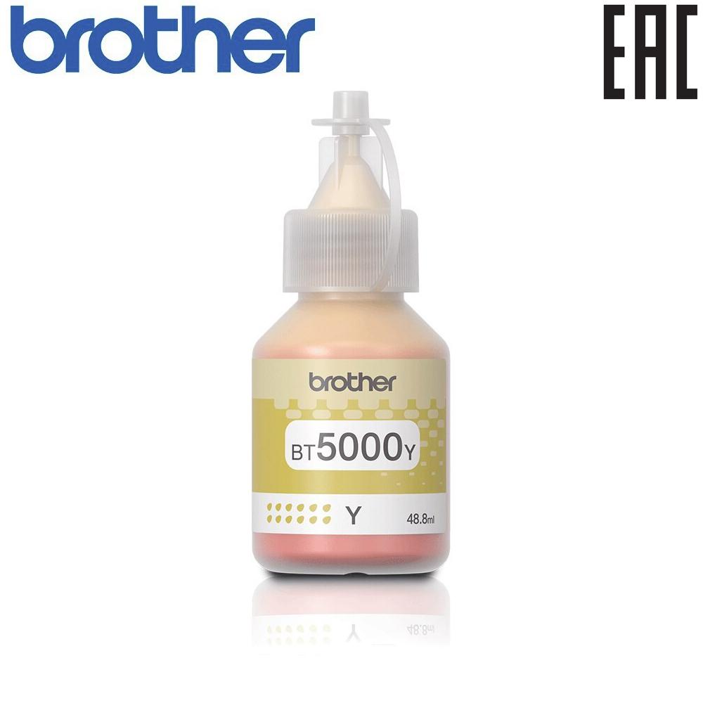 Brother BT5000Y: оригинальная бутылка с жёлтыми чернилами