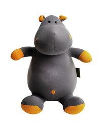 Подушка-игрушка антистресс «Бегемот Няша», оранжевый 1