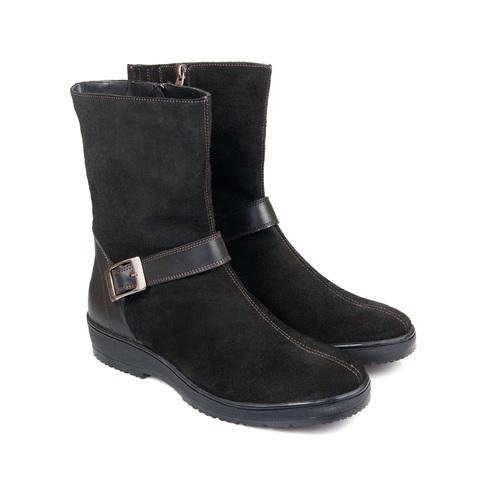 626459 полусапожки женские черные. КупиРазмер — обувь больших размеров марки Делфино