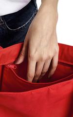 Сумка шоппер с карманом красная