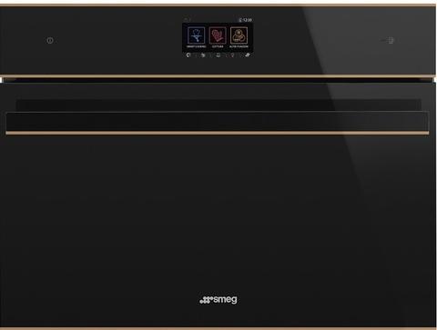 Компактный духовой шкаф Smeg SF4604WVCPNR комбинированный с пароваркой