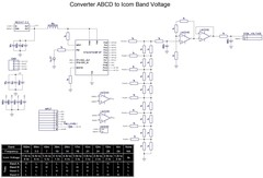 Converter Yaesu ABCD BandData to ICOM Voltage or CI-V