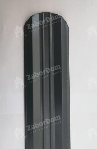 М-образный штакетник металлический 95 мм RAL 7024 двухсторонний 0.5 мм