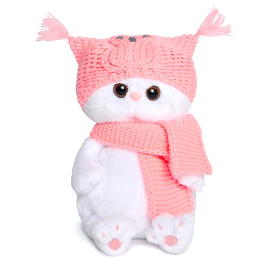 Ли-Ли Baby в шапке-сова и шарфе