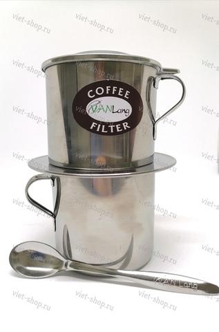 Пресс-фильтр (фин) c чашкой и ложкой для кофе, 120-460 мл