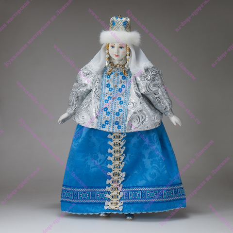 Интерьерная кукла Снегурочка в шапочке
