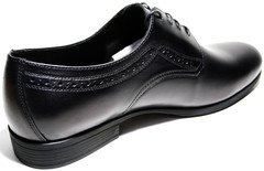 Туфли дерби мужские черные IKOC