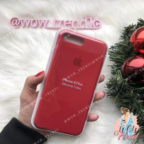 Чехол iPhone 7+/8+ Silicone Case (product) /red/ красный original quality