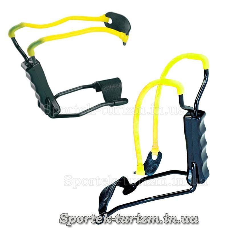 Рогатка Man Kung MK-T11 (чорно-жовта) з упором