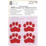 ABS-противоскользящие наклейки Regia для носков красный (8 шт.)