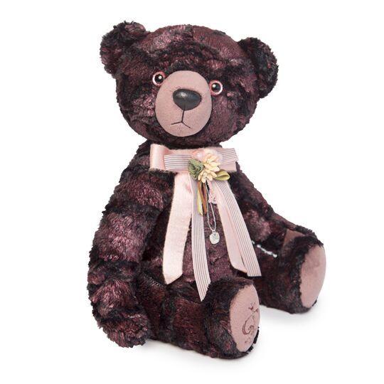 Медведь БернАрт бордовый (металлик)