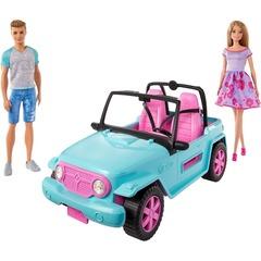 Игровой набор Barbie Семья Барби и Кен в джипе