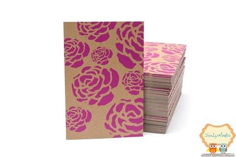Крафтовая открытка Розы