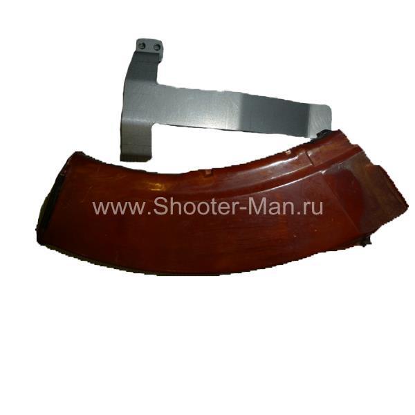 Металлическая клипса для магазинов АКМ/Сайга калибра 7,62*39 Shooter-Man фото 1