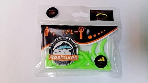Силиконовая приманка FreshLures FlipWorm цвет 101, вкус сыра