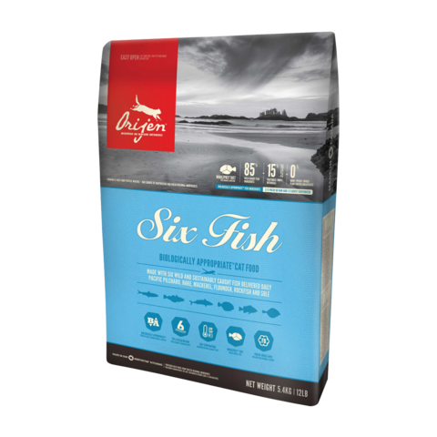 Orijen Six Fish Сухой корм для кошек 6 видов Рыбы беззерновой