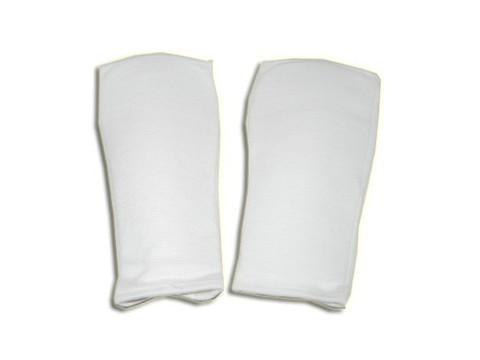 Защита руки (для единоборств, от локтя до пальцев, хлопок с эластиком, вставка поролон, цвет белый). L :(356-1-L):