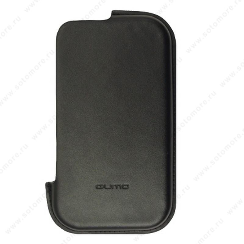 Чехол-пенал кармашек QUMO Split для iPhone 4s/ 4 боковой кармашек черный
