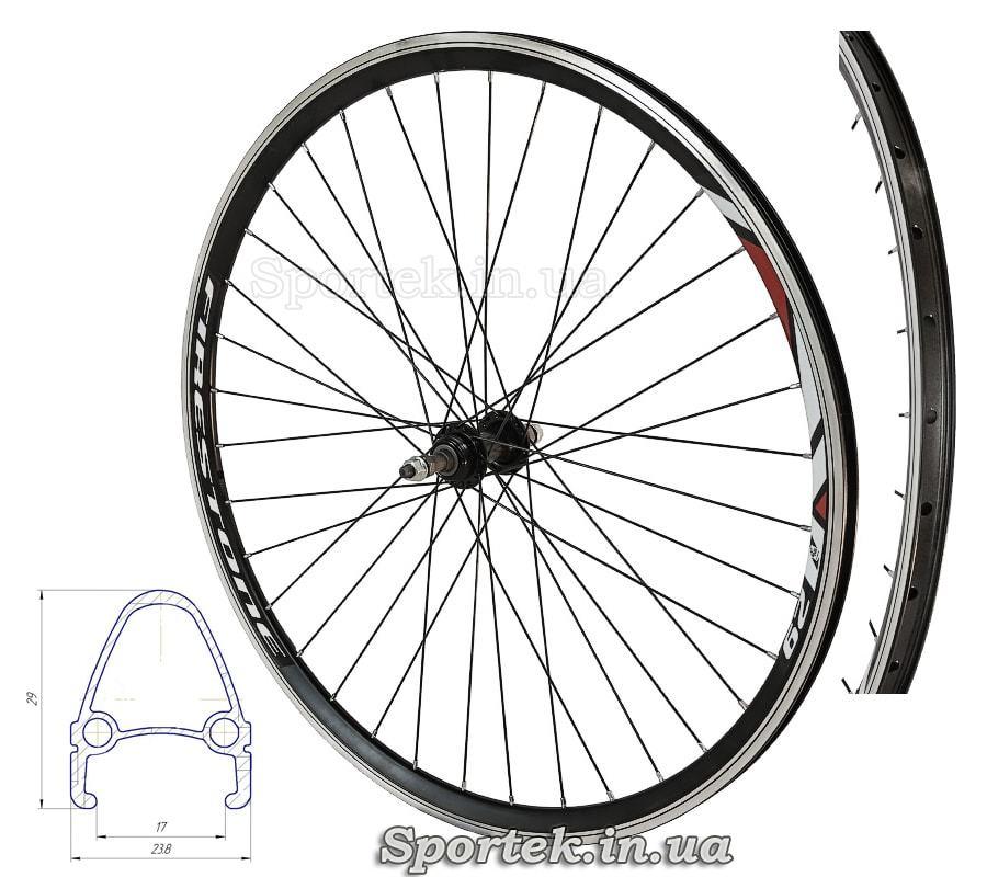 Заднее алюминиевое колесо 28 дюймов, 36 спиц для многоскоростного велосипеда