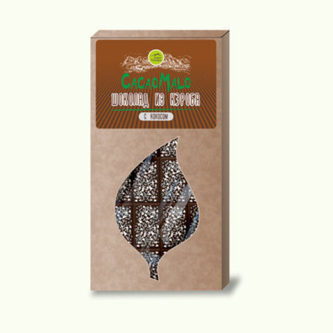 CacaoMalo шоколад из кэроба необжареного с кокосом 85 гр