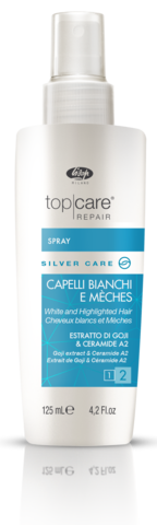 Спрей-бальзам для осветленных, мелированных и седых волос – «Top Care Repair Silver Care Spray»