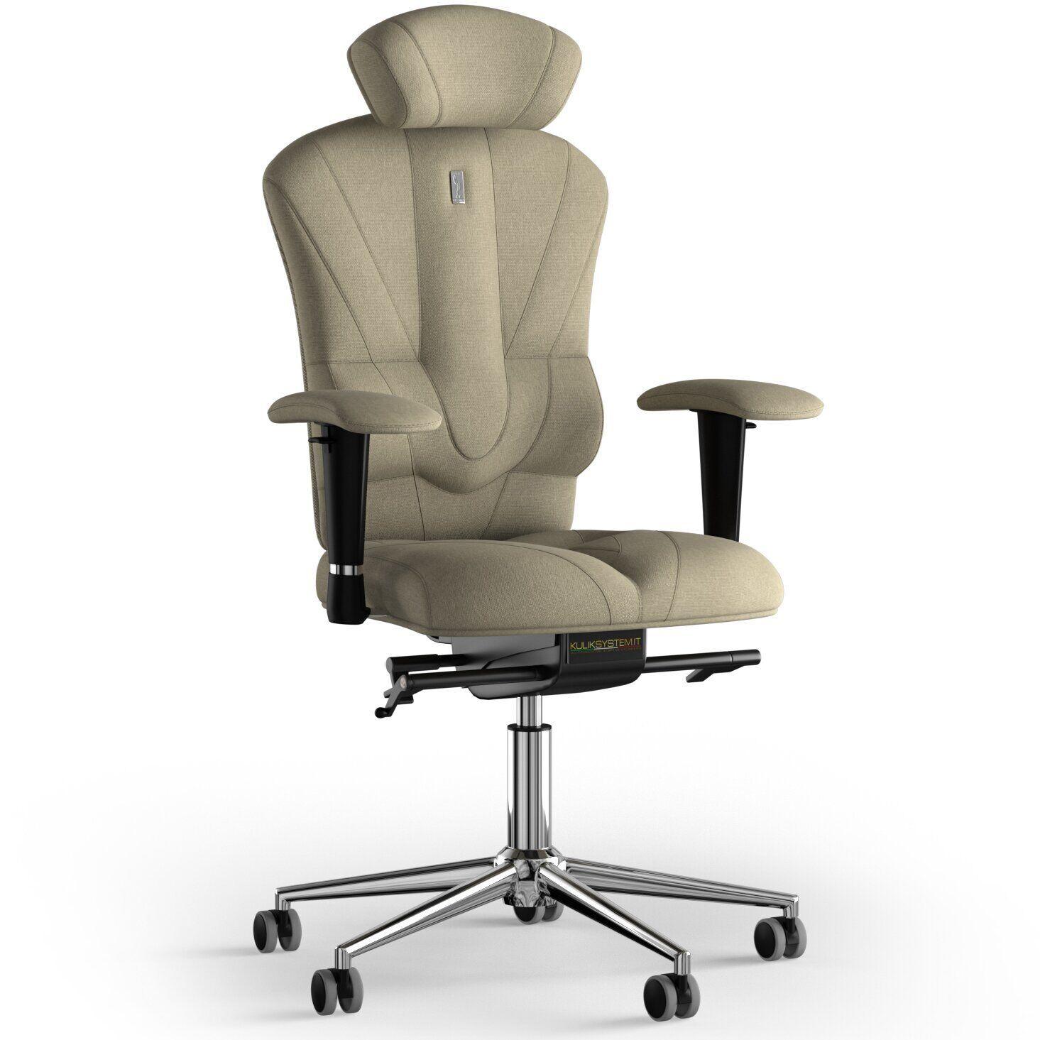 Кресло KULIK SYSTEM VICTORY Ткань с подголовником без строчки