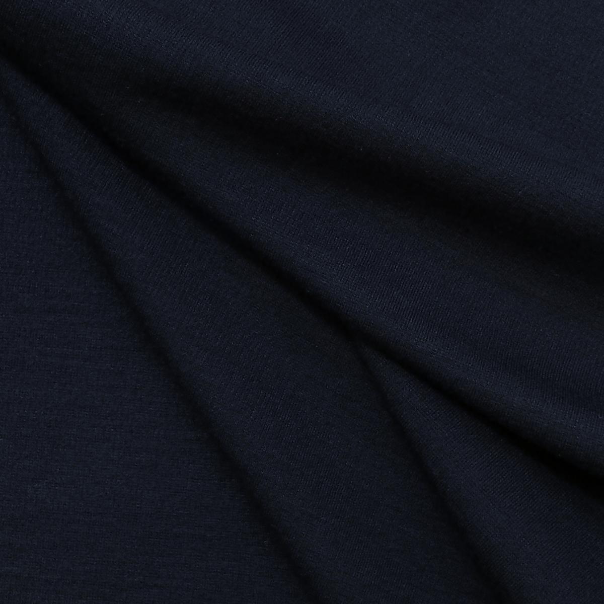 Шерстяное стретч-джерси с нейлоном чернильного цвета