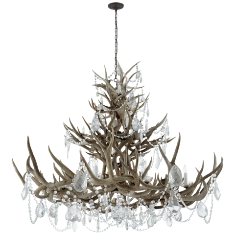 Люстра Ralph Laurent RL5530BN-CG Straton Chandelier in Natural Bone with Antiqued Crystal