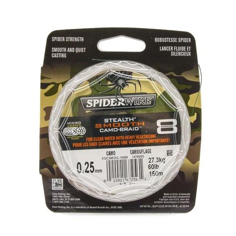 Плетеная леска Spiderwire Stealth Smooth 8 Braid Камуфляжная 150м 0,25мм 27,3кг