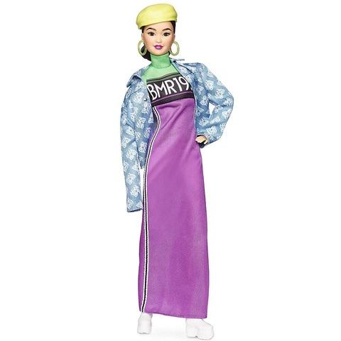 Барби BMR1959 Брюнетка в неоновом платье, джинсовке и берете