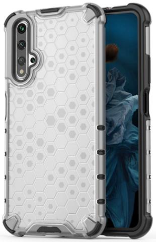 Чехол прозрачный для Huawei Honor 20 ударопрочный от Caseport, серия Honey