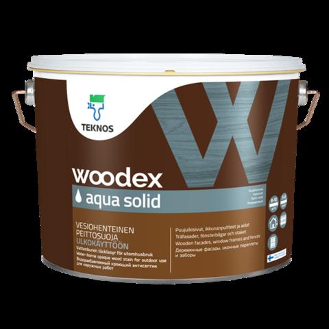 TEKNOS WOODEX AQUA SOLID/Текнос Вудекс Аква Солид Кроющий антисептик для наружных работ