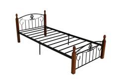Кровать Румба (200x90) Черный/Красный дуб