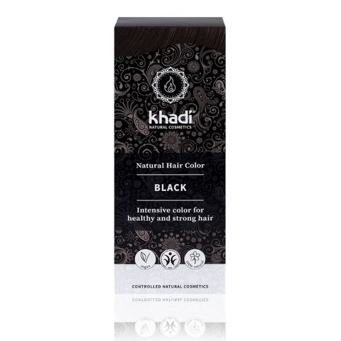 Натуральная краска для волос черная Khadi Naturprodukte, 100 гр