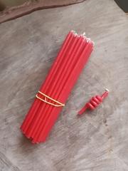 Восковые свечи  красные