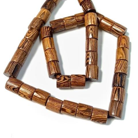 Бусина из сандалового дерева цилиндр 8,5х8 мм 1 бусина