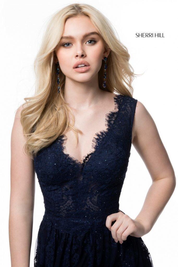 Sherri Hill 51562 Кружевное платье в пол