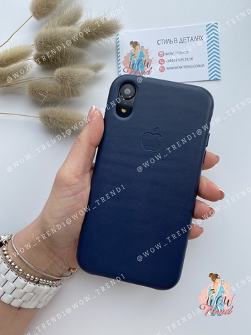 Чехол iPhone XR good Leather Case /midnight blue/