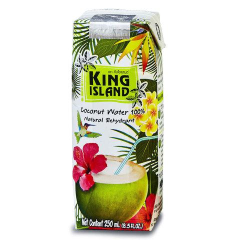 Вода кокосовая без сахара KING ISLAND, 250мл