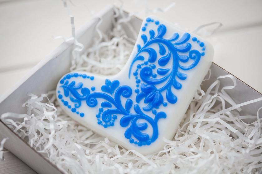 Пластиковая форма для мыловарения Валенок
