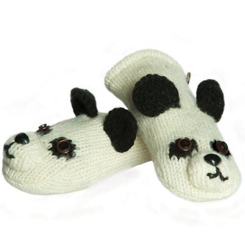 Картинка варежки Knitwits Patches the Panda
