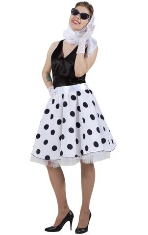 Платье Стиляга чёрно-белая в горох 1