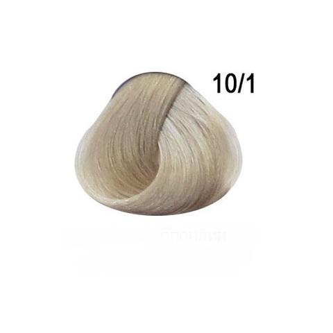 Перманентная крем-краска для волос Ollin 10/1 светлый блондин пепельный