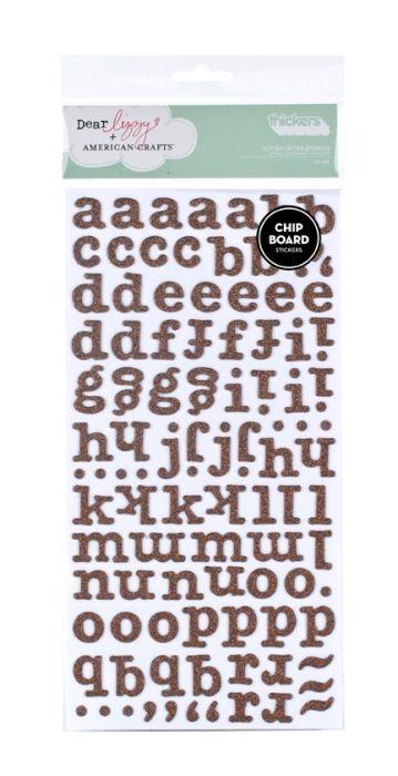 Стикеры алфавит c глиттером
