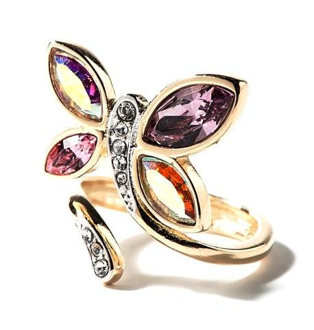 Кольцо с позолотой Доминика